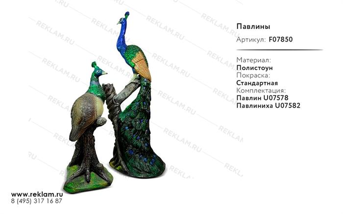 Комплект ландшафтных фигур Павлины F07850