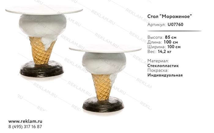 Пластиковый стол Мороженое