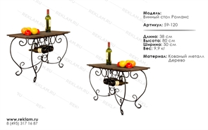 Кованная мебель для кафе