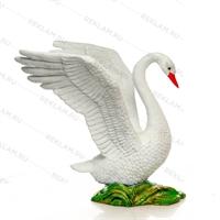 парковая скульптура лебедь