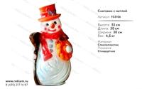 рекламная фигура снеговик с метлой F03106