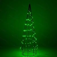 светящаяся фигура елка зелёная