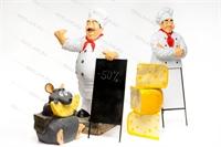 комплект рекламных фигур для ресторана