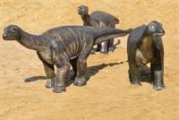 комплект объемных фигур динозавров