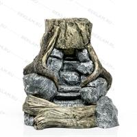 декоративный фонтан под камень