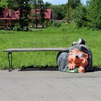 Скамейка Еж с грибом - фото 4462