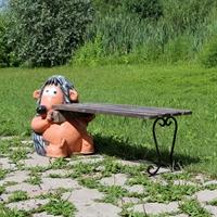 Скамейка Еж с кирпичем - фото 4463