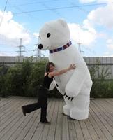 Надувная фигура Белый Мишка