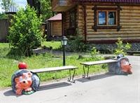 Скамейка Еж с грибом - фото 6108