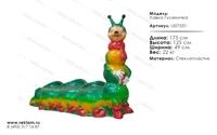 мебель из полистоуна лавка гусеничка U07531
