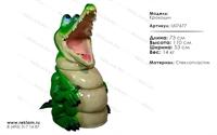 декор из полистоуна урна крокодил U07677