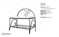 интерьерная кованая мебель банкетка 302-11