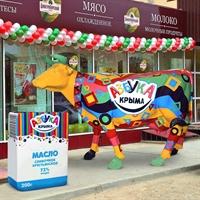 корова из стеклопластика для наружной рекламы