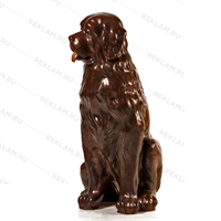 бронзовая фигура собаки