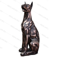 бронзовая парковая скульптура