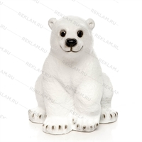новогодняя фигура медвежонок из пластика