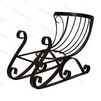 декоративные кованые сани