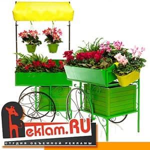 Оформление цветочных магазинов
