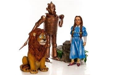Герои «Волшебник изумрудного города»: Элли, Железный Дровосек и Трусливый Лев