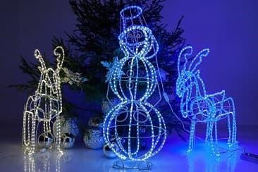 Световые фигуры – оригинальное  украшение заведений к Новому году