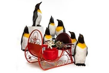Фигуры пингвинов в натуральную величину и покраску