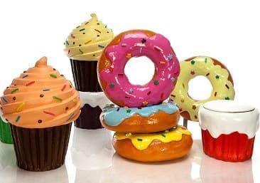 Новинки муляжи сладостей! Аппетитные пончики с глазурью