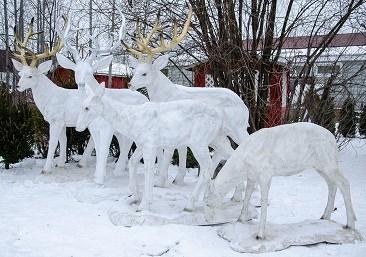 Новогодние олени Деда Мороза на Reklam.ru ❄ Северные олени