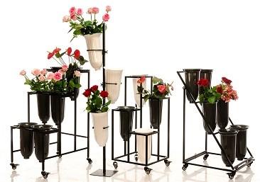 Флористические стойки для срезанных цветов и букетов