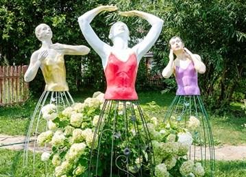 Ландшафтные фигуры балерины