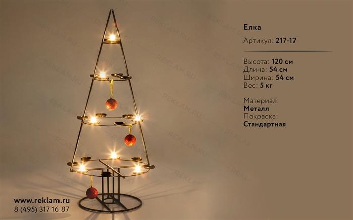 новогодний декор подсвечник елка
