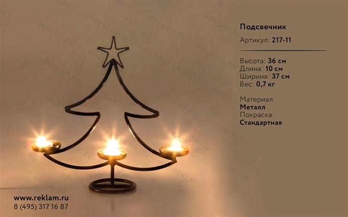 новогодний кованый подсвечник елка