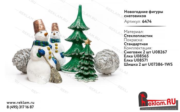 Новогодние фигуры Снеговиков - фото 19518