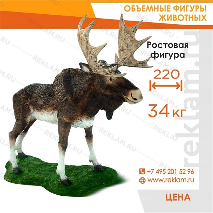 Ростовая фигура Лось, стеклопластик, 175 см. - фото 22776