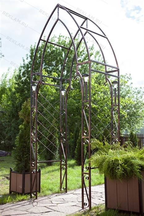Кованая декоративная арка 863-08R - фото 22981