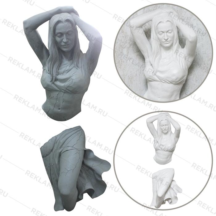фигура девушки из стены
