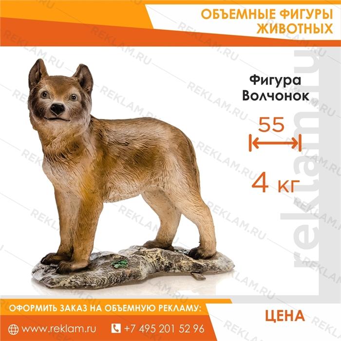 Объемная фигура Волчонок