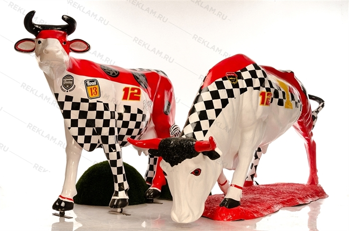 комплект фигур корова и бык