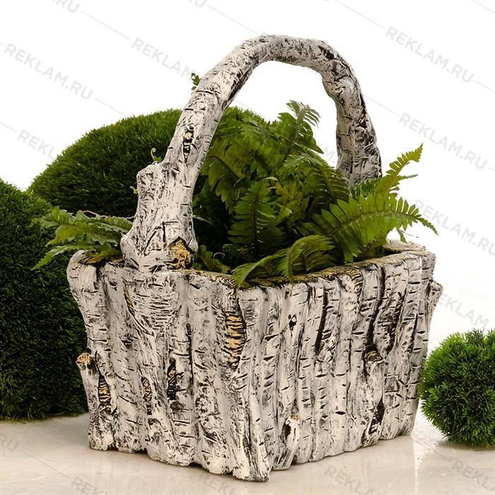 садовое кашпо березовое лукошко
