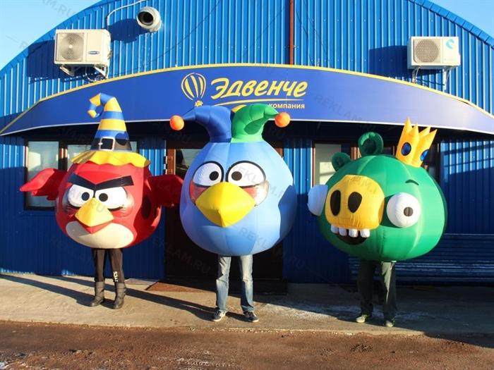 Надувной костюм Angry Birds