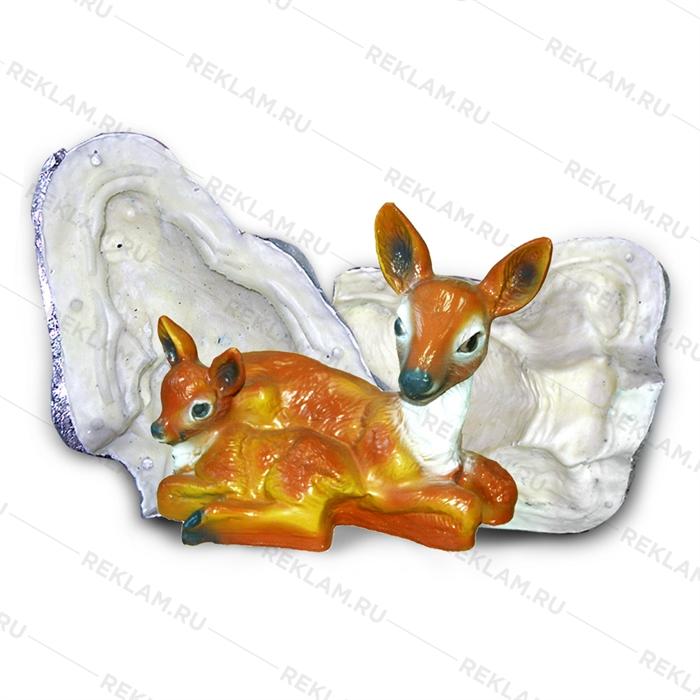 Форма для фигуры олень с олененком
