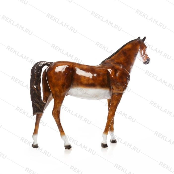 Ростовая фигура Лошадь бурая, пластик, 230 x 190 см. - фото 7357