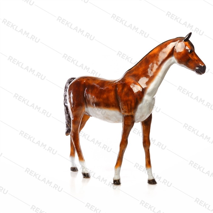 Ростовая фигура Лошадь бурая, пластик, 230 x 190 см. - фото 7359