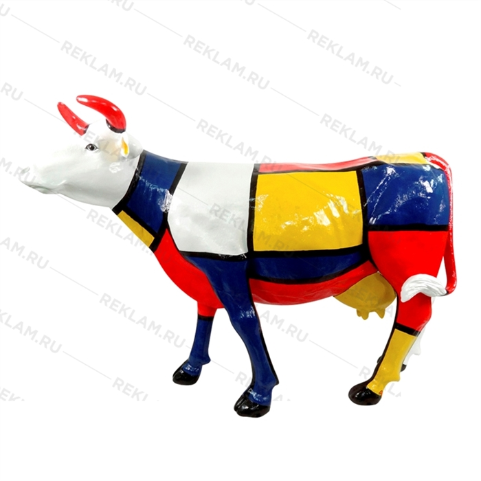 рекламная фигура корова из стеклопластика