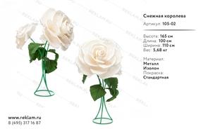 коллекция из декоративных цветов