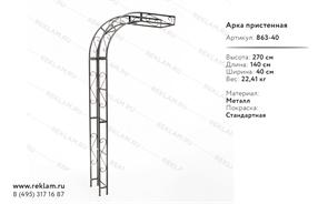 декоративная пристенная арка