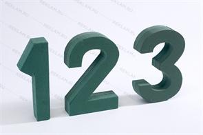 Цифры из пенопласта