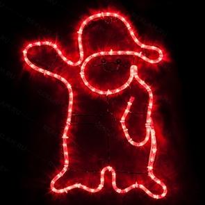 Светящаяся фигура дед мороз