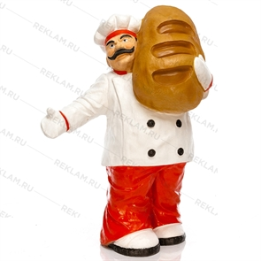Рекламная фигура повар с батоном