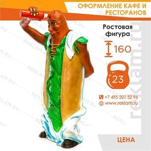 Рекламная фигура Хот Дог, стеклопластик