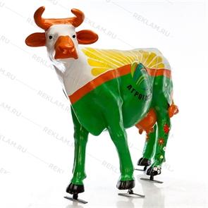Рекламная фигура коровы Агроглобус